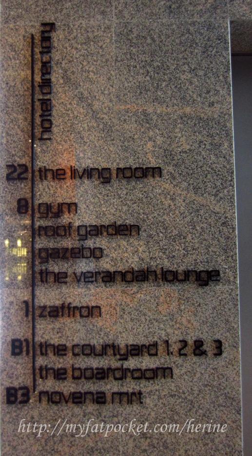 hotel - lobby sign