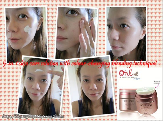 Application of CC cream
