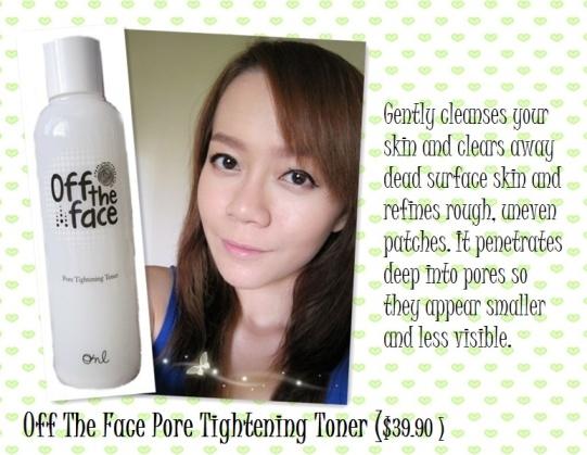Off The Face Pore Tightening Toner $39.90
