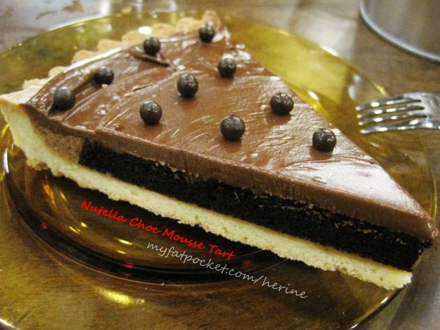 Nutella Choc Mousse Tart